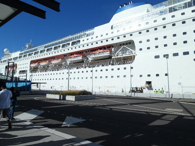 Pacific Pearl Cruise Ship, White Bay, Sydney Harbour, Australia.