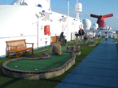 Carnival Spirit Cruise Ship Mini Golf
