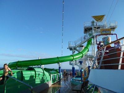 """Carnival Spirit Cruise Ship Water Slide """" Green Thunder """""""