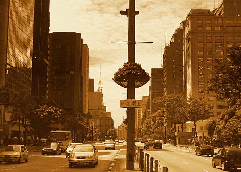 São Paulo - Paulista in Sepia