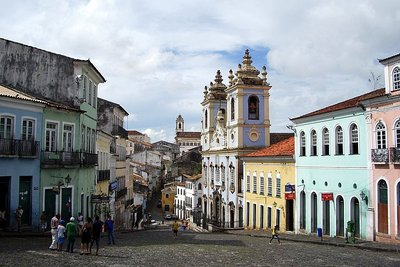 "Salvador - Pelourinho Square, ""Rosario dos Pretos"" Church"
