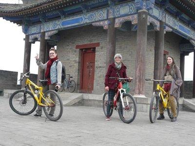 Cycling on Xi'an city walls