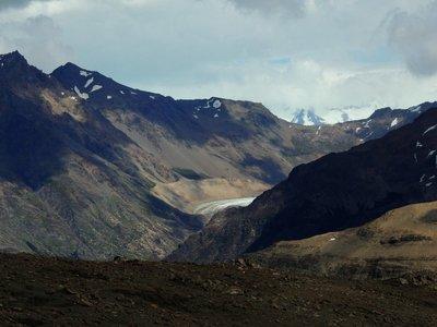 The end of a glacier path