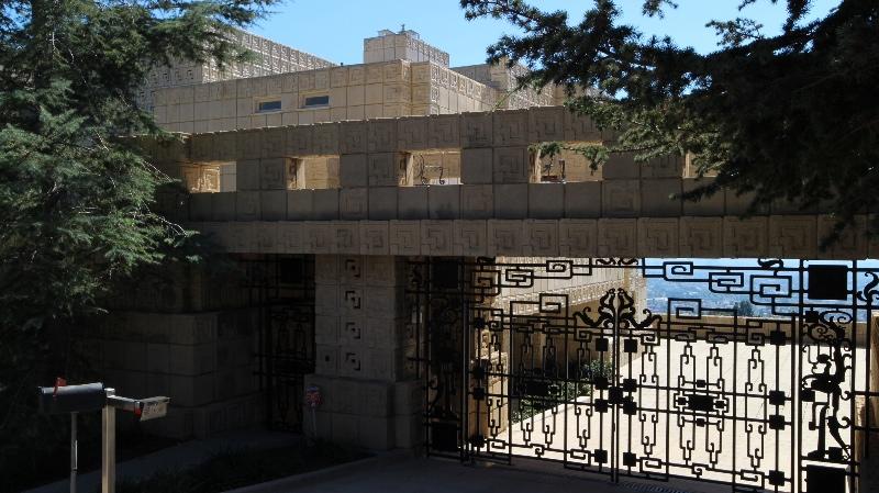 Ennis house entrance