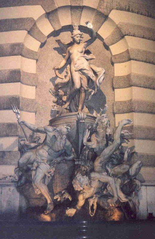 Hofburg Waterfountain by Michaeltor in Vienna
