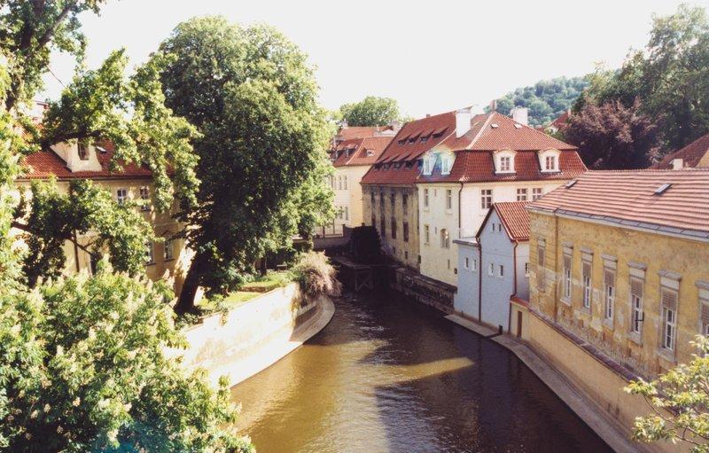 Kampa canal by Charles Bridge, Prague