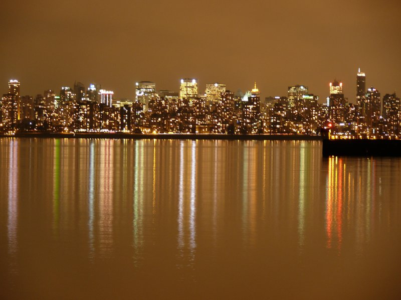 Vancouver skyline on a winter's evening