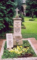A gravestone of a Mozart family member in Salzburg