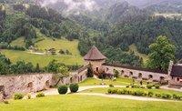 View from Hohenwerfen Fortress in Austria near Salzburg
