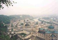 View over Salzburg Austria May 26 2006