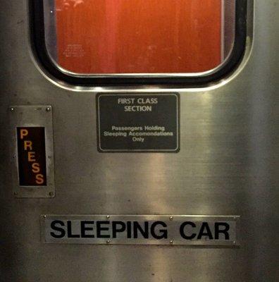 Sleeping Car door.