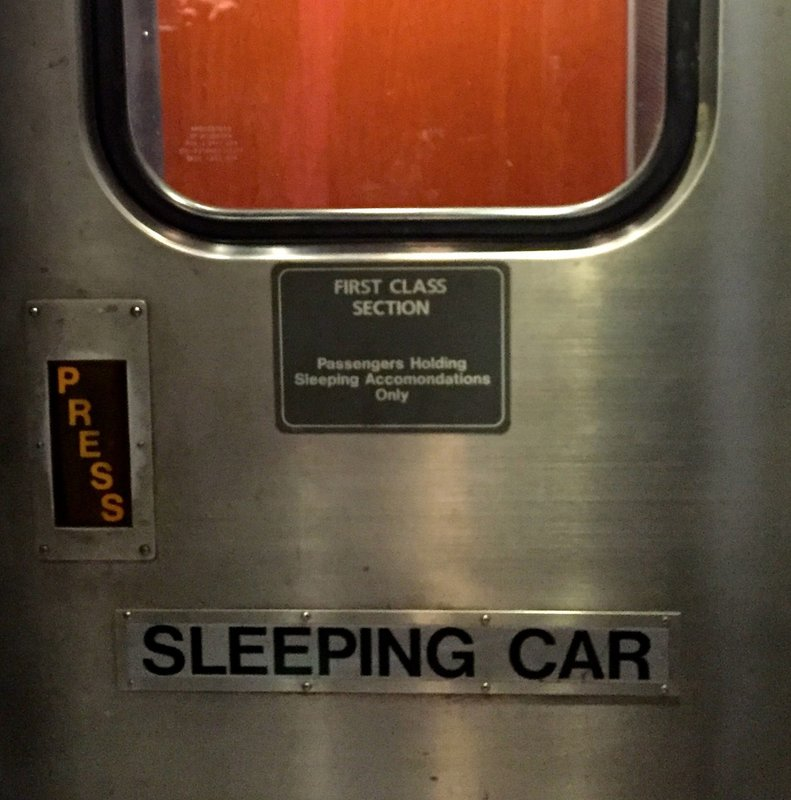 Sleeping Car door.