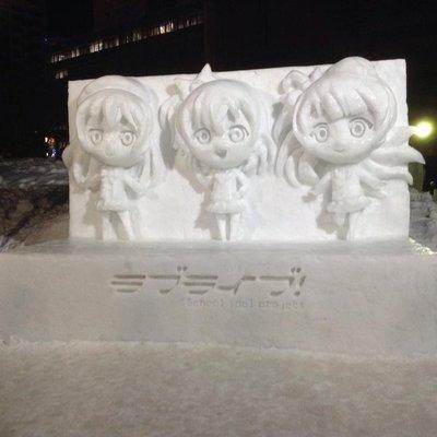 Love Live! ice sculptures @Odori Park site
