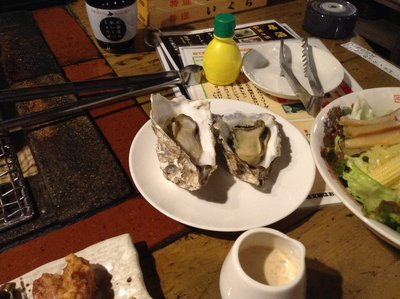 Already grilled oysters.