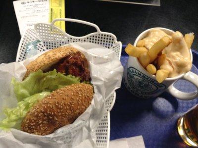 Chinese Chicken Burger set