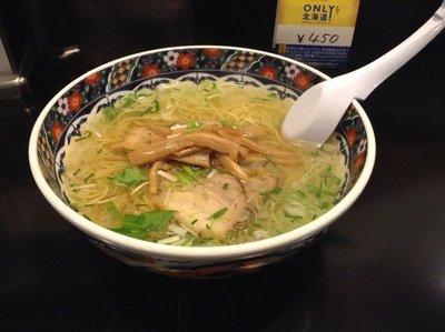 Shio Ramen at one of the more notable restaurant near Goryokaku Tower