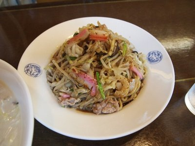 Sara-udon I had in one of the restaurant in Nagasaki's Chinatown.