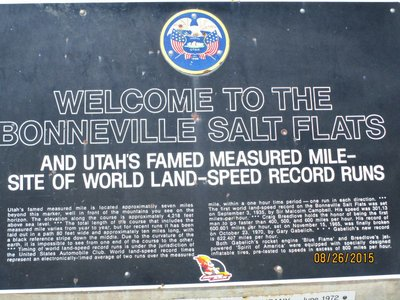 Utah salt flats sign