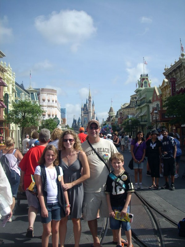 Family at Magic Kingdom Walt Disney World