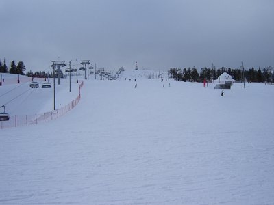 Biggest 'blue' slope, with 'red' top