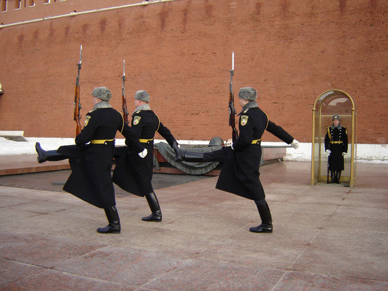 Change of the Honor Guard at the Tomb of The Unknown Soldier in Alexander Garden
