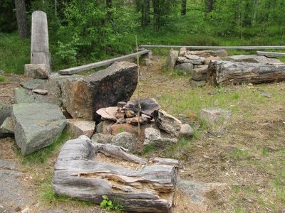 Reproduced Bronze Age cremation site
