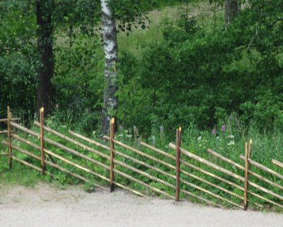 Example of typical fence in Finland