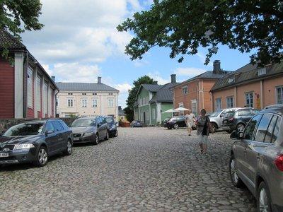 Street scene of wooden buildings