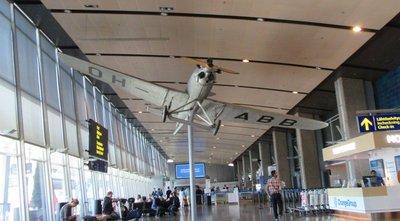 Airplane in Helsinki Airport
