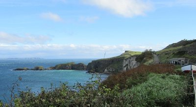 Arriving at Carrick-a-Rede