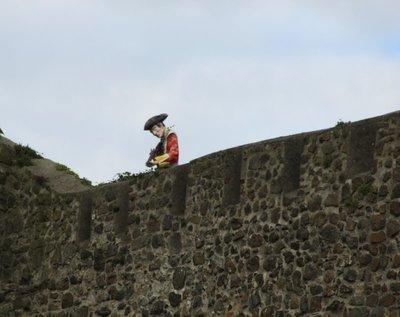 Character at Carrickfergus Castle