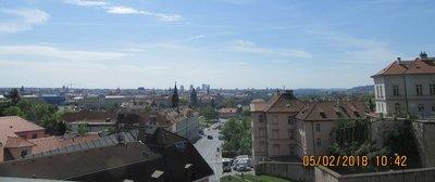 Prague city skyline with many spires