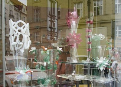 Beautiful glassware for sale - got some reflection from the street