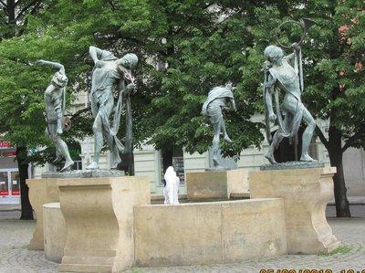 Dancing fountain, Czech musicians