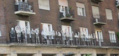 Folk Art on balcony