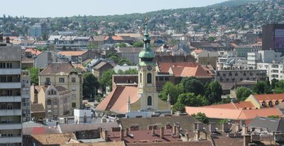 View of Buda from castle