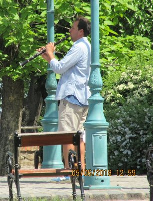 Musician playing clarinet