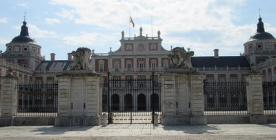 View of gates and front of palace