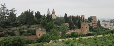 Distance view of Alhambra