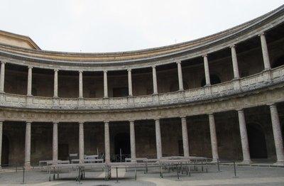 Circular interior courtyard