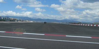 Crossing the runway going in