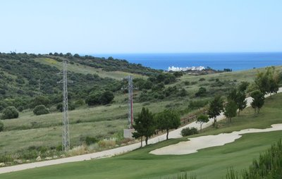 Looking south from our deck - the view of the Mediterranean