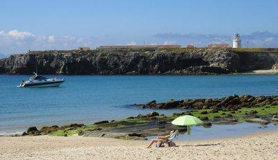 A beach scene with a beach body