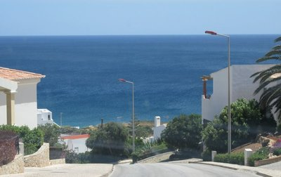 Street and coast view