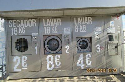Intermarche car park laundromat
