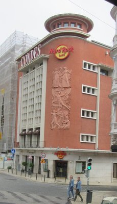 The Hard Rock Café but with a very decorative building