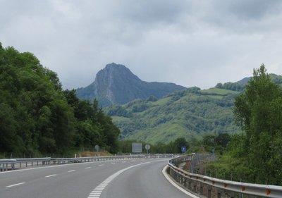 An impressive mountain peak