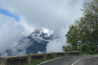 Cloudy mountain view