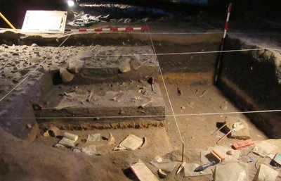 Replica of archeology dig
