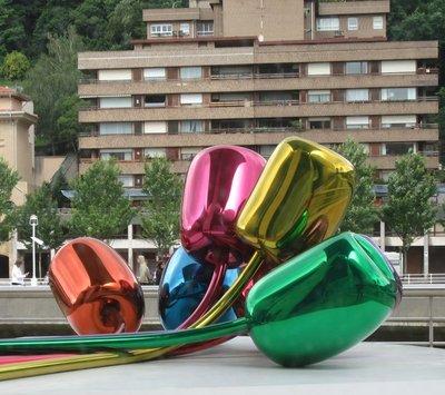 Tulips by Jeff Koons Outside of Guggenheim Museum